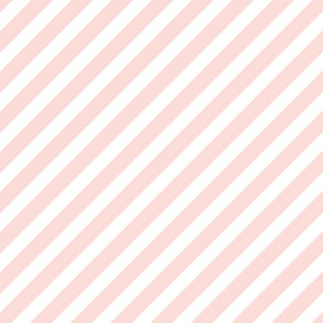 blush stripes fabric baby nursery design