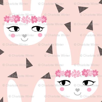 bunny rabbit blush baby nursery fabric cute baby design