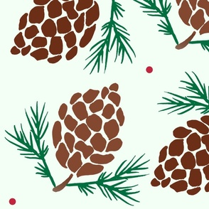 Pinecone Giftwrap Pattern // Christmas Holiday Wrapping Paper