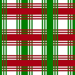 Christmas Plaid Checked Ribbon Stripes