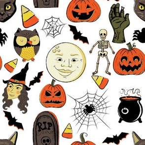 "8"" Vintage Halloween"