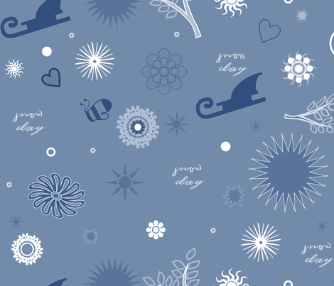 sleighs and mittens fabric by isabella_asratyan on Spoonflower - custom fabric