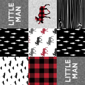 little man patchwork quilt top (90) || buffalo plaid