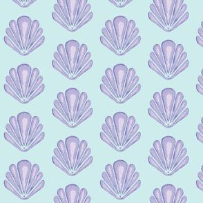Clamshells -Lavender/Aqua