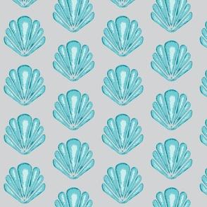 Clamshells - Lagoon - Aqua/grey