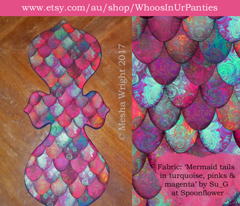 Mermaid tails in turquoise, pinks & magenta by Su_G