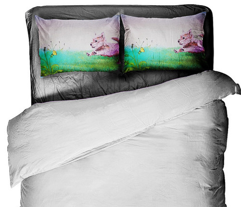 Squidley von Schatz pillow cases