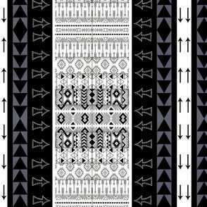 Black and White Arrow stripe