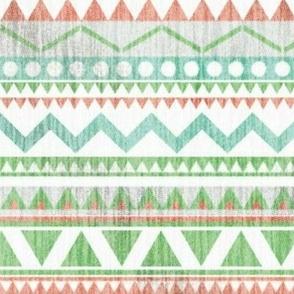 Pastel Linen Aztec Stripe