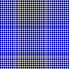 "cobalt and silver gingham, 1/8"" check"