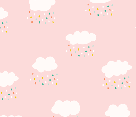 Happy Rain fabric by elancreativeco on Spoonflower - custom fabric
