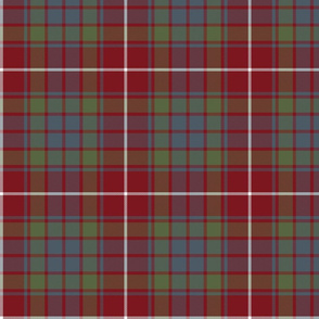 Fraser red gathering weathered tartan, 7""