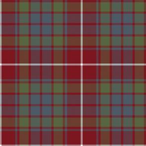 """Fraser red gathering weathered tartan, 10"""""""