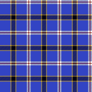 Oklahoma unofficial state tartan - royal blue
