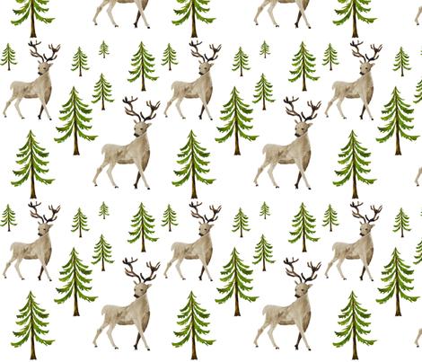 Hello  Deer fabric by shopcabin on Spoonflower - custom fabric