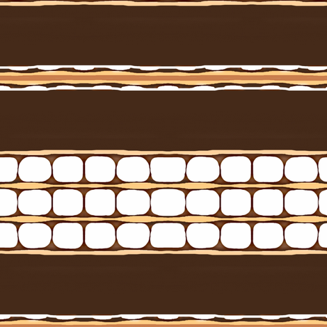 Smores Stackem High  (row) fabric by franbail on Spoonflower - custom fabric
