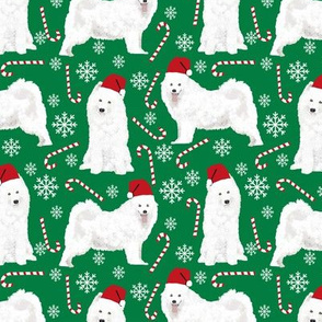 samoyed christmas fabric peppermint sticks candy cane fabric snowflakes xmas holiday samoyeds fabric