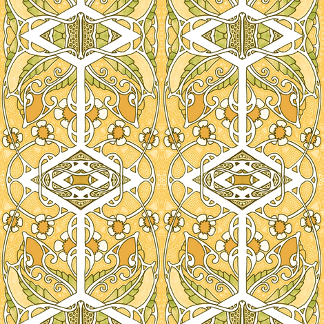 Golden Garden fabric by edsel2084 on Spoonflower - custom fabric