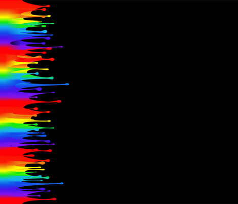 Rainbow Paint Drips On Black Wallpaper Designed By Hypatias
