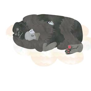 Sleeping Gorilla Fat Quarter