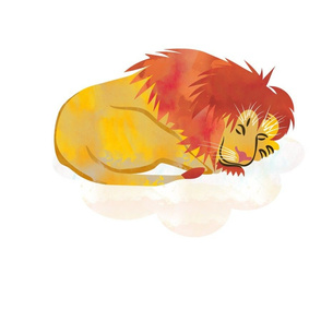 Sleeping Lion Fat Quarter