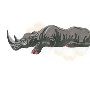 Sleeping Rhino Fat Quarter