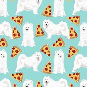samoyed pizza fabric food junk food samoyeds fabric