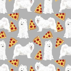 samoyed pizza fabric dog junk food samoyeds fabric dogs fabrics