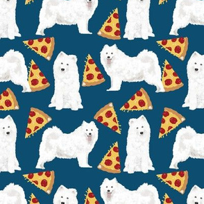 samoyed pizza fabric junk food pizza samoyeds fabric dog fabric