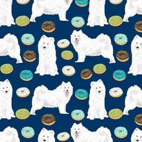 samoyed dog fabric samoyeds dog design blue dogs fabric dog design
