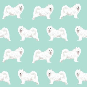 samoyed dog fabric samoyeds dog design mint sled dog design