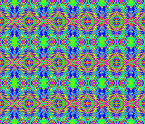 A Painter's Vibrant Twirling Ornaments fabric by rhondadesigns on Spoonflower - custom fabric