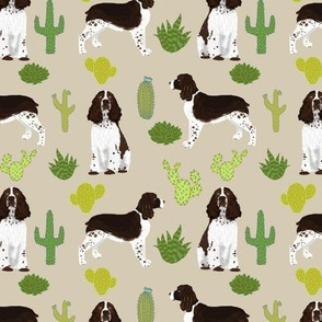english springer spaniel dog fabric cactus dog design english springer spaniel dogs design cactus dog design fabric
