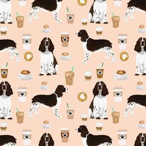 english springer spaniel dog coffees fabric blush coffee design dogs fabric english springer spaniels