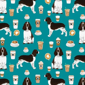 english springer spaniel dog coffees fabric dog coffee fabric english springer spaniels dog design