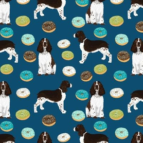 english springer spaniel donuts fabric navy donut design springer spaniel fabric dog fabrics