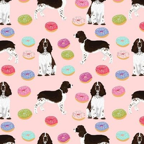 english springer spaniel pink donuts fabric cute dog design pink donuts spaniel dogs design