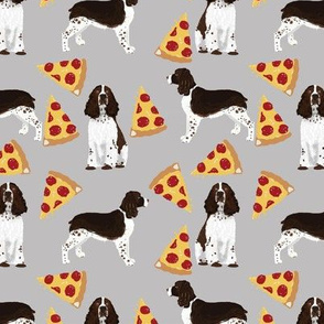 english springer spaniel pizza fabric dog pizza fabrics english springer spaniels dog design