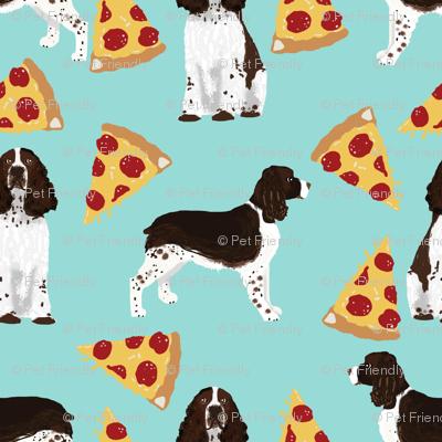 english springer spaniel pizza fabric dog fabric springer spaniel dogs design springer spaniels