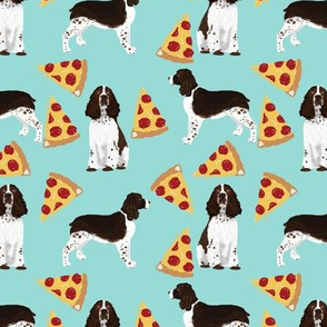 english springer spaniel pizza fabric dog fabric springer spaniel dogs design springer spaniels