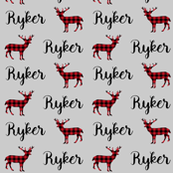personalized custom fabric - buffalo plaid fabric deer fawn