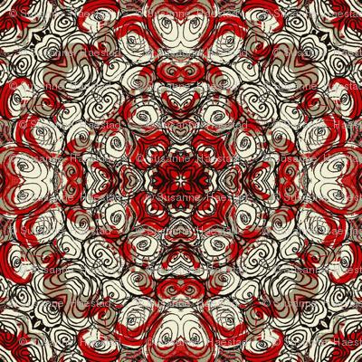 Stones rust red mirror