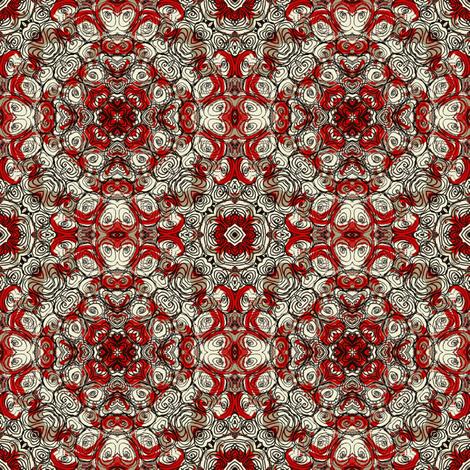 Stones rust red mirror fabric by susiprint on Spoonflower - custom fabric