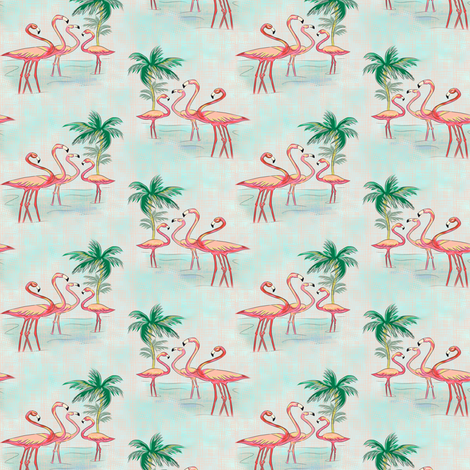 Flamingo small size fabric by susiprint on Spoonflower - custom fabric