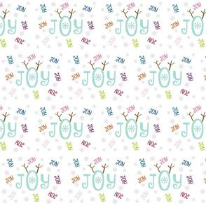 Joyous Snowflakes  MED - antler multi