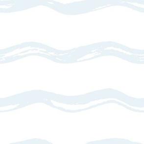 Pastel Blue Wavy Lines
