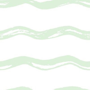 Pastel Green Wavy Lines