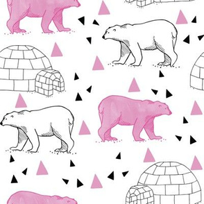 polar_bears___igloos__pink___white