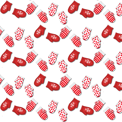 Redmittens2 fabric by luvinewe on Spoonflower - custom fabric