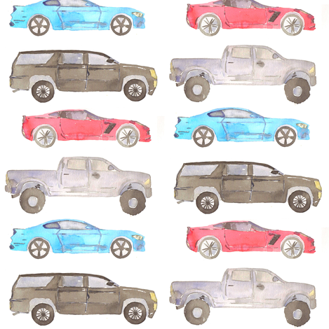 cars and trucks fabric by erinanne on Spoonflower - custom fabric
